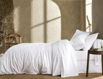 Linge de lit ┊ Percale lavée BLANC